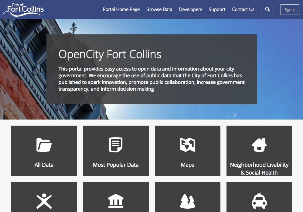 OpenCity website screenshot